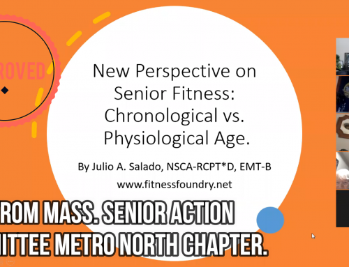 Presentation for Mass. Senior Action Committee: New Perspective on Senior Fitness