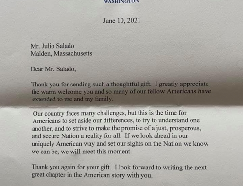 Letter from the White House about my SPARTA Seniors Book.